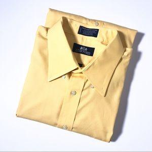 Stafford Yellow Micro Pinpoint Oxford Dress Shirt